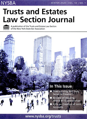 Cover of Trusts and Estates Law Section Journal