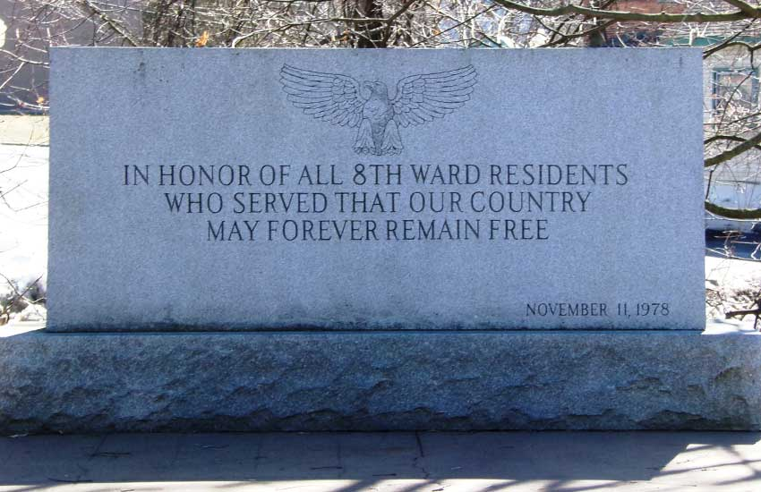 8th Ward Veterans' Memorial, Amsterdam, NY