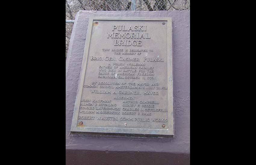 Pulaski Bridge Memorial Plaque