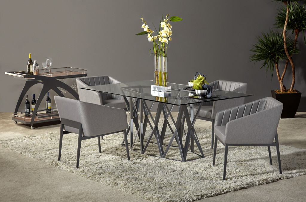Folio Dining Table and Chairs Set
