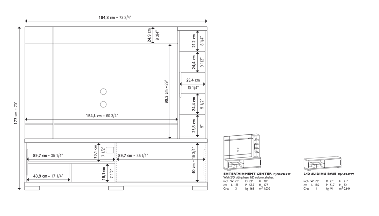 Asti Entertainment Center Technical data