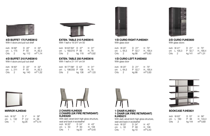 Heritage Dining Room TECHNICAL DATA