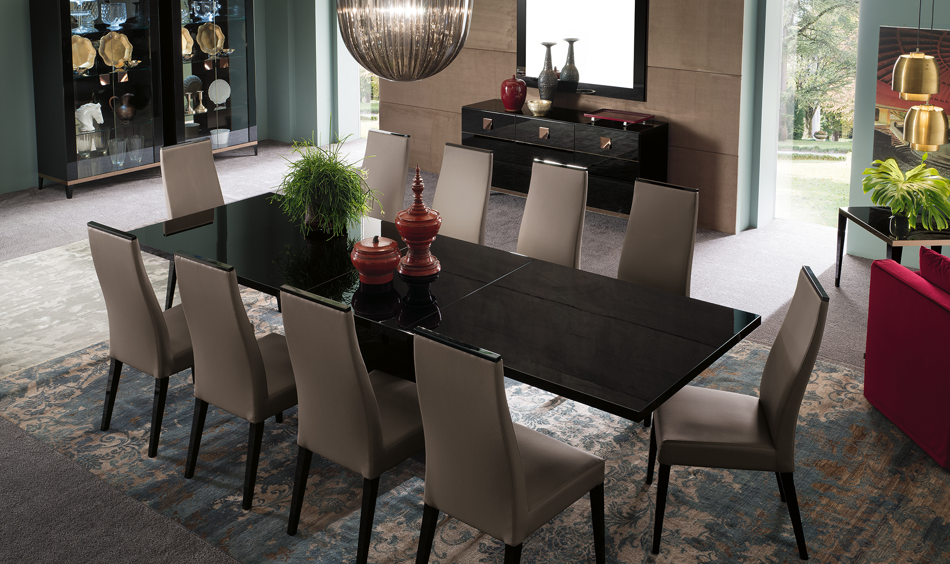 Mont Noir Dining Room Table Overview