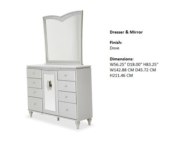 Melrose Plaza Bedroom Dresser & Mirror