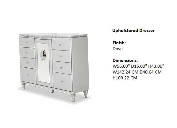 Melrose Plaza Bedroom Upholstered Dresser