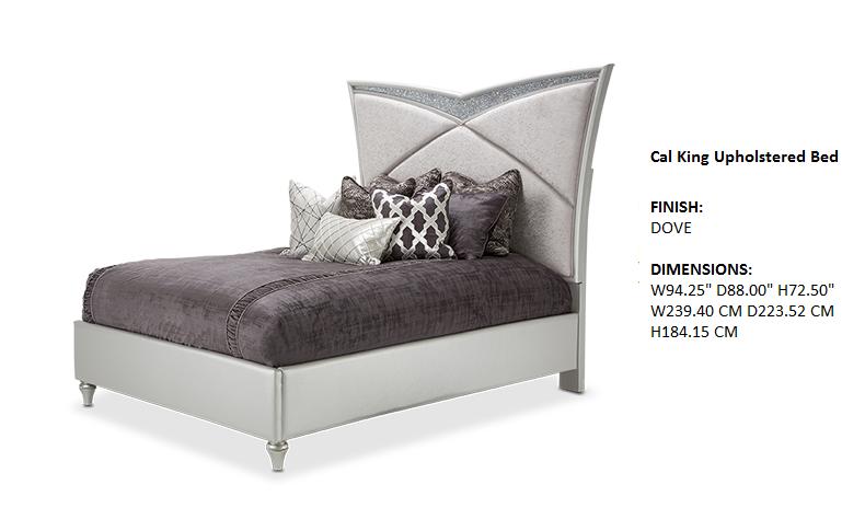 Melrose Plaza Bedroom Cal King Upholstered Bed