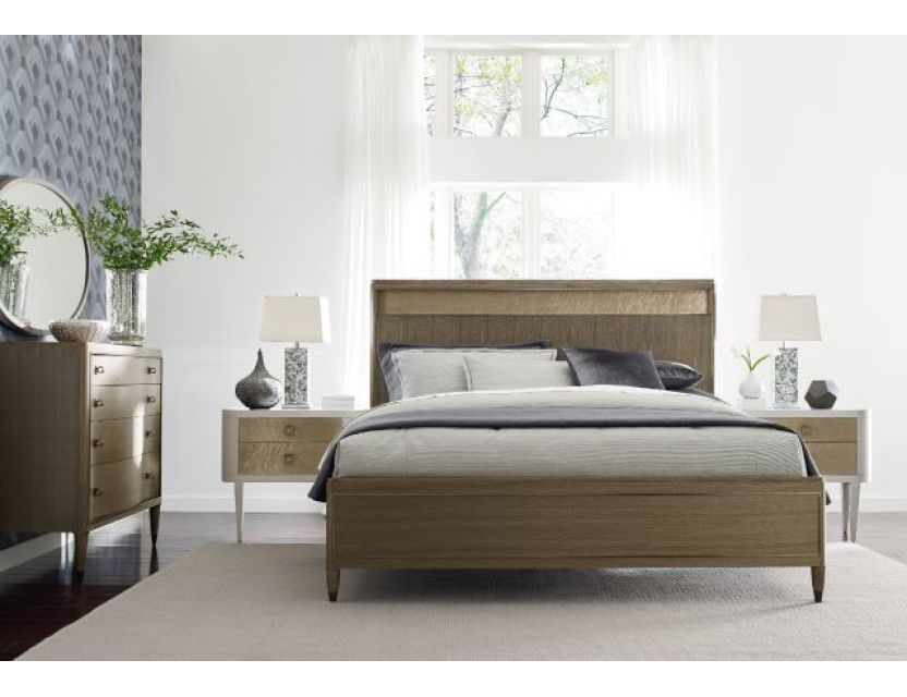 Craven Cal King platform bed  Straight view