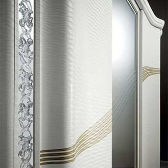 Mirò Bedroom wardrobe curved sliding doors