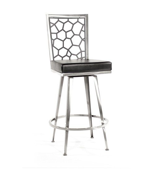 Luca Swivel Barstool, Honey Overview