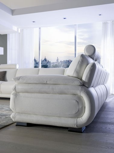 Atlantic leather sofas deluxe side view 2