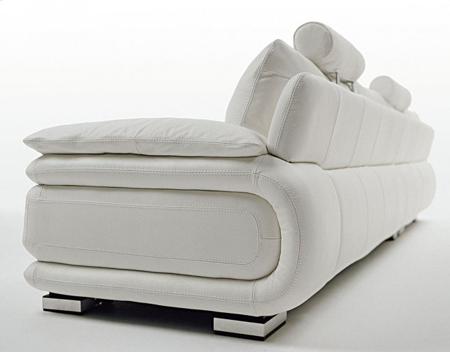 Atlantic leather sofas deluxe back angle view