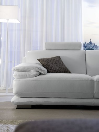 Atlantic leather sofas deluxe partial view