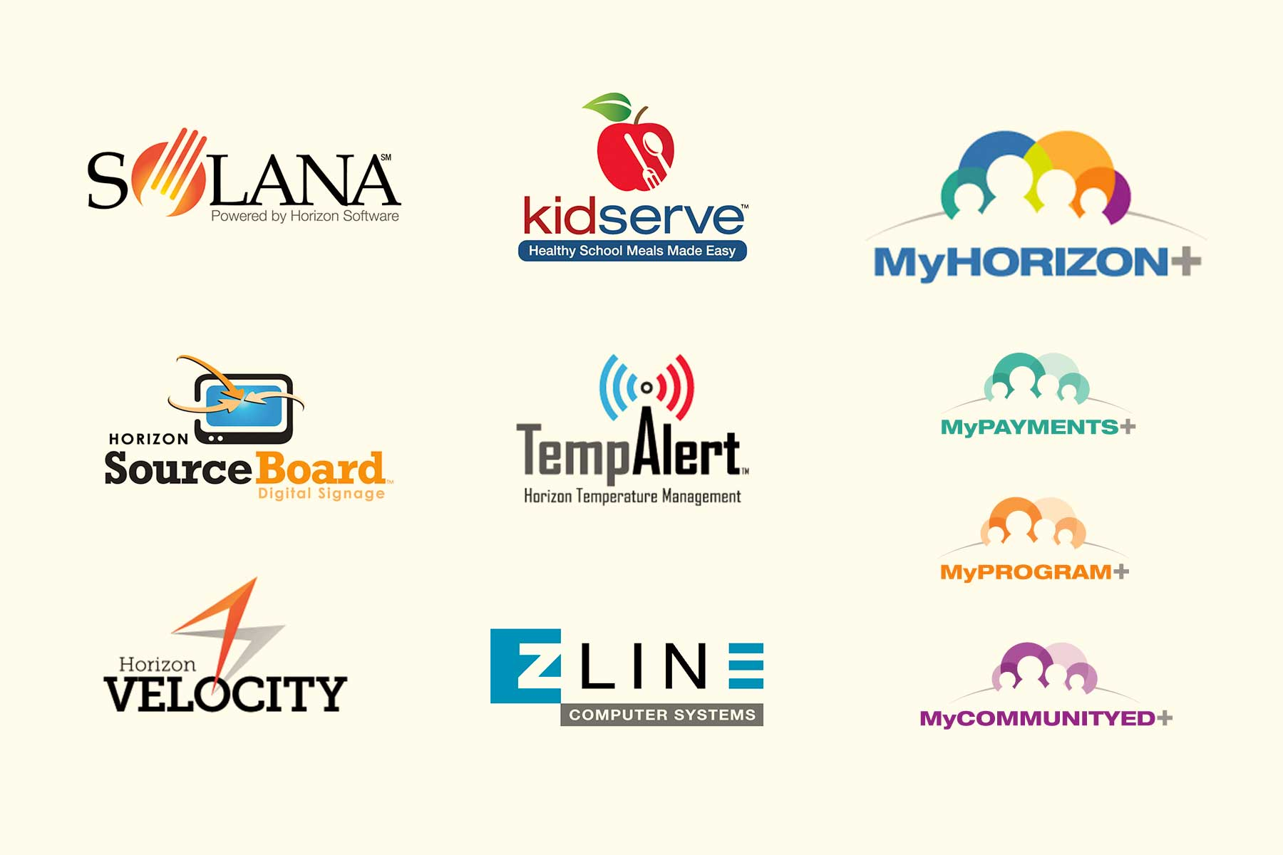 montage of corporate logos