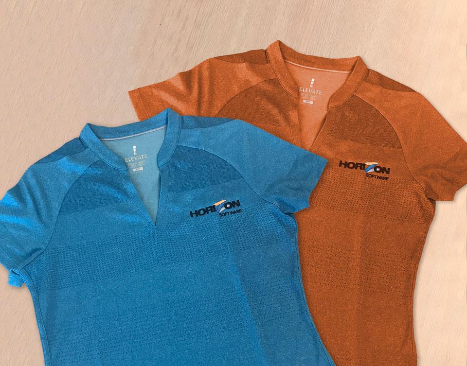 Horizon shirt branding