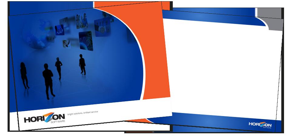 Horizon presentation template