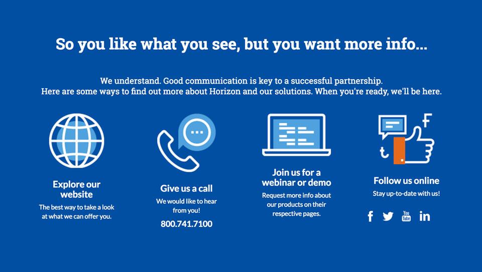 photo of website: Horizon Software detail