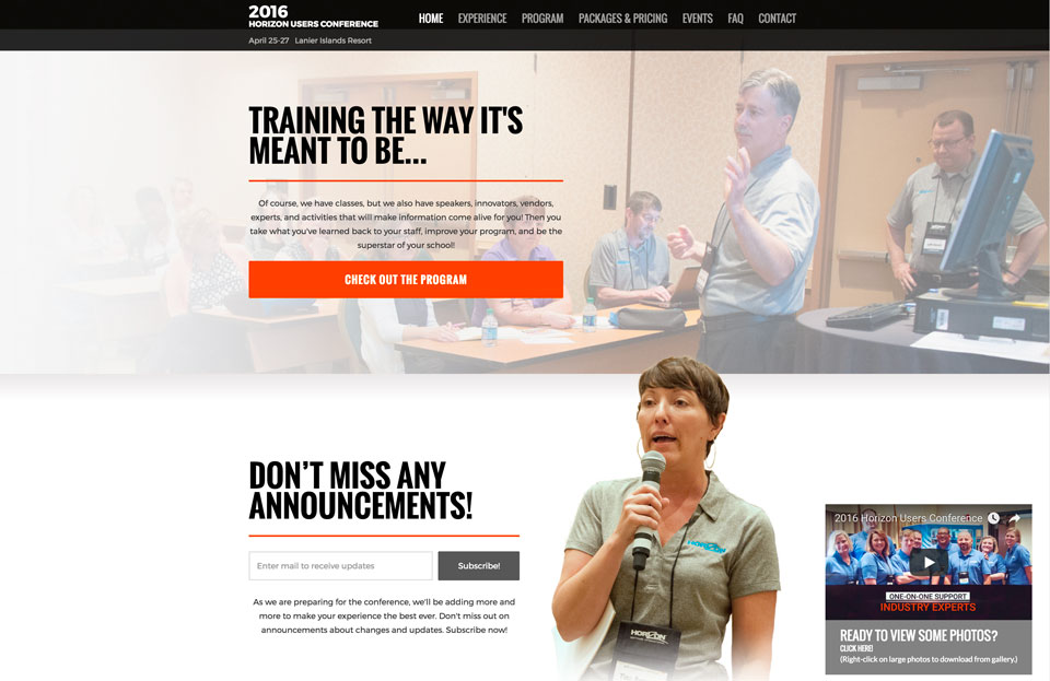 photo of website: Horizon UGC detail