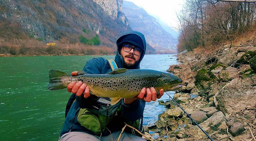 Angelo La Marca and the river Adige.