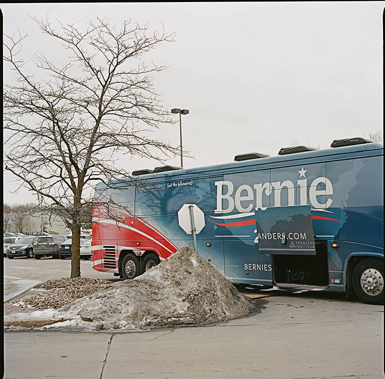 On tour with Senator Bernie Sanders (February, 2016).