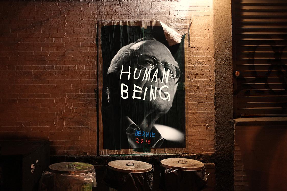 HUMAN BEING. Inspired by Bernie Sanders.