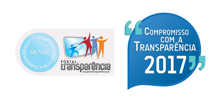 Selo Portal da Transparência 2016 e 2017