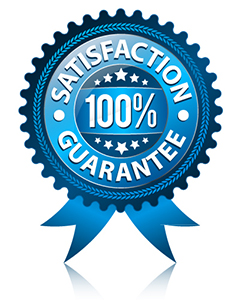 Our services come with a satisfaction guarantee