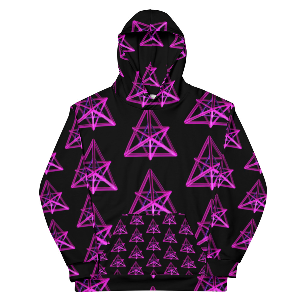 This comfy unisex hoodie has a soft outside with a vibrant print and an even softer brushed fleece inside. The hoodie has a relaxed fit, and it's perfect for wrapping yourself into on a chilly evening.  • 70% polyester, 27% cotton, 3% elastane • Fabric weight: 8.85 oz/yd² (300 g/m²) • Soft cotton-feel fabric face • Brushed fleece fabric inside • Double-lined hood with design on both sides • Unisex style • Comes with drawstrings • Overlock seams • Blank product components in Mexico sourced from Poland and Mexico • Blank product components in the EU sourced from China and Poland