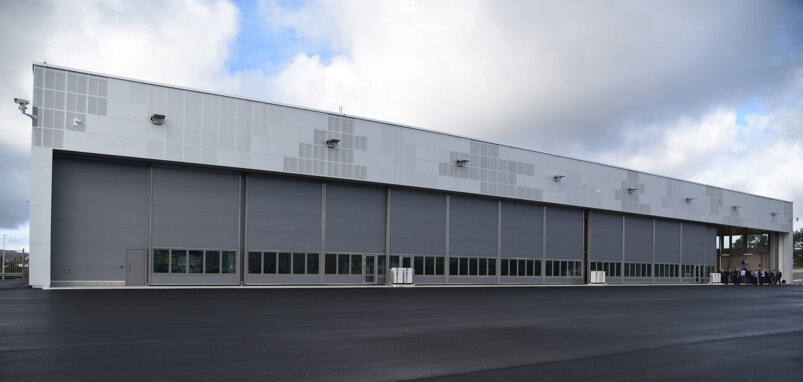 Hangarport Haakonsvern - 5 porter med elektrisk hjuldrift