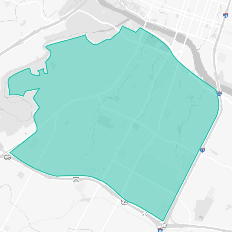 South Central Austin Map
