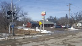 A picture of Waveland Cafe in Booneville Iowa from across the street