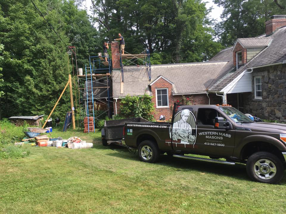 WMM working onsite for a chimney repair