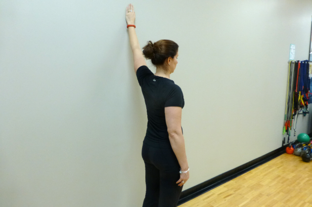 walk up the wall chest stretch