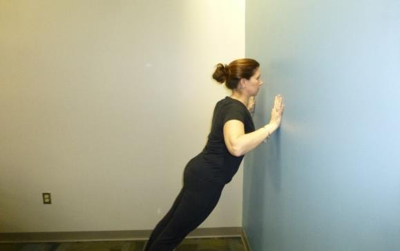wall push up exercise