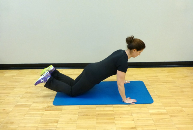 knee push up exercise