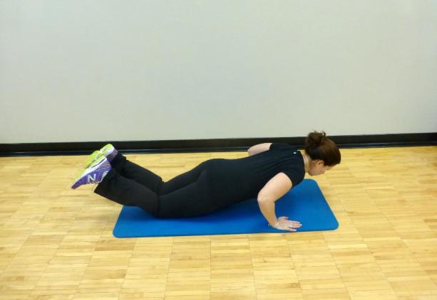 knee push up exercise