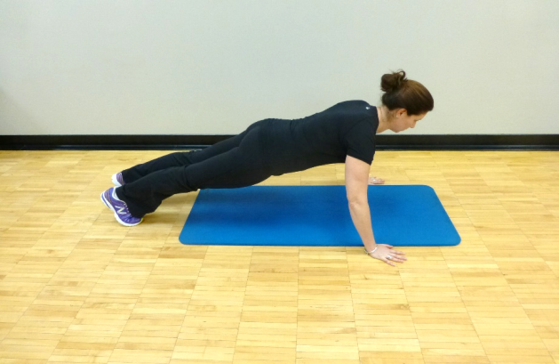 standing push up exercise