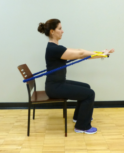 seated tube press exercise