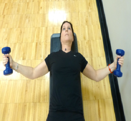chest fly with dumbbells exercise