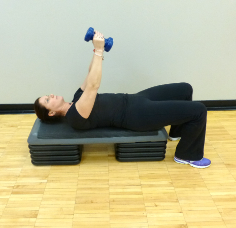 chest fly with dumbbell exercise