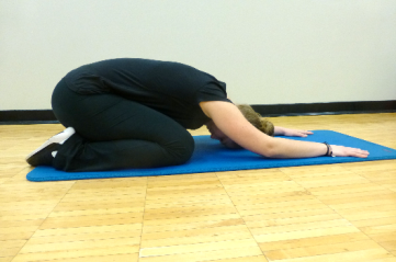 child pose stretch