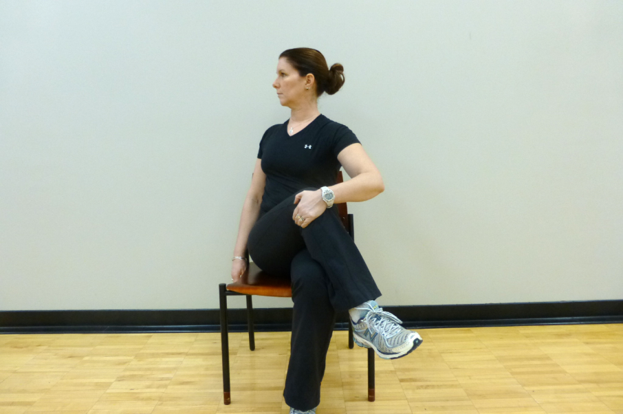 seated lumbar twist stretch