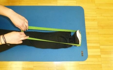 plantar flexion theraband starting position exercise