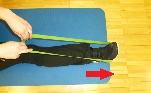 plantar flexion theraband exercise