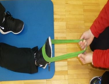 dorsiflexion theraband exercise