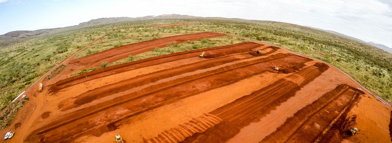 Mine Site Infiltration Ponds System