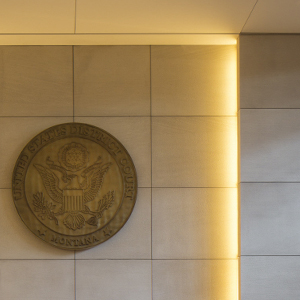 wall of billings courthouse with federal seal