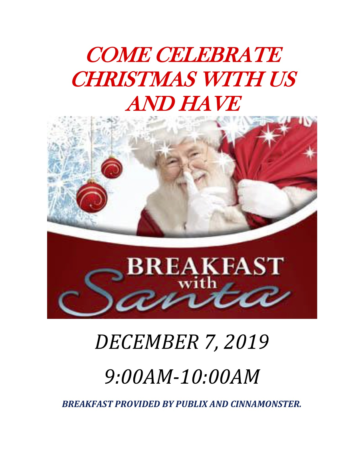 breakfast with santa information at Virginia Center Commons