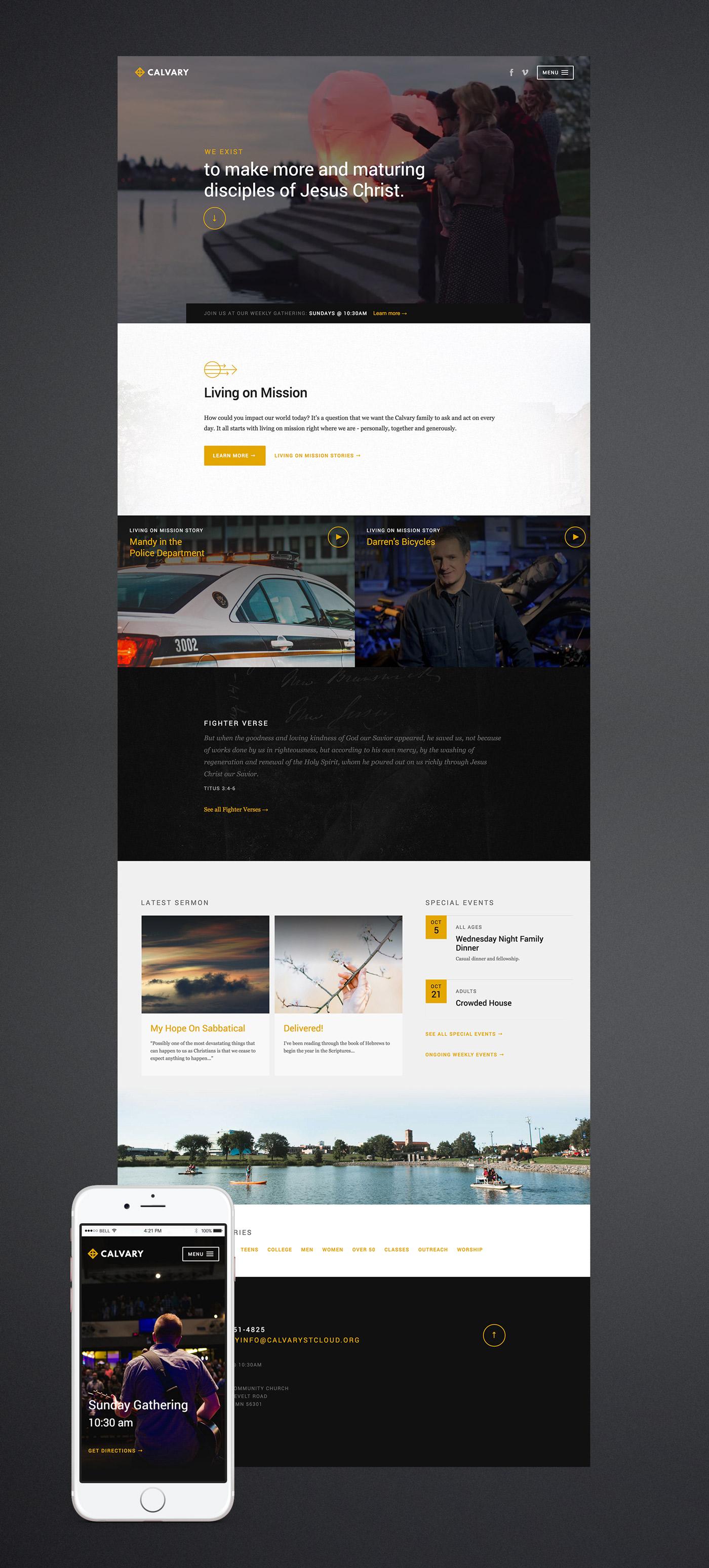 Calvary Church homepage