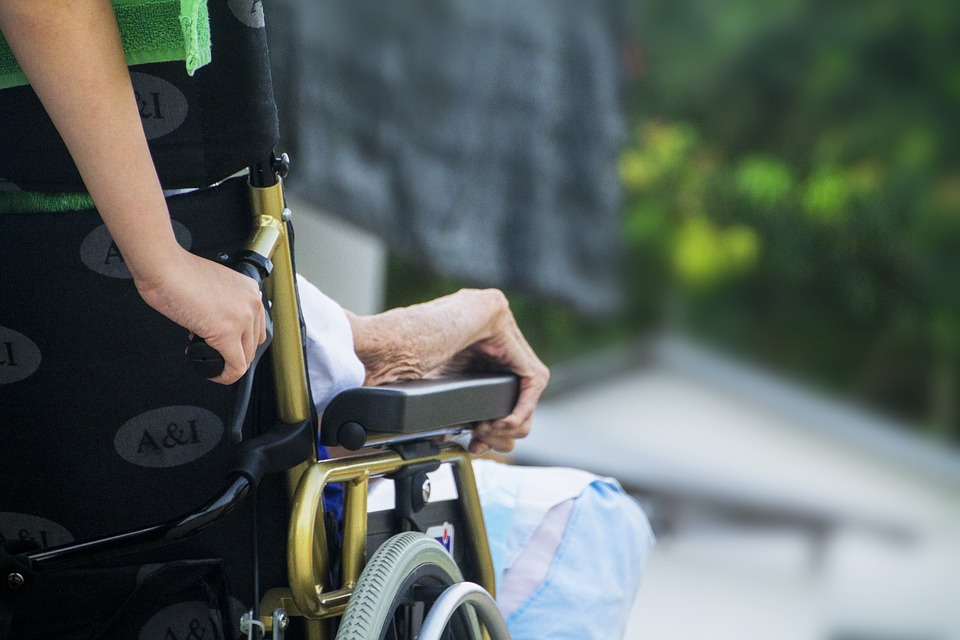 Elderly in wheelchair