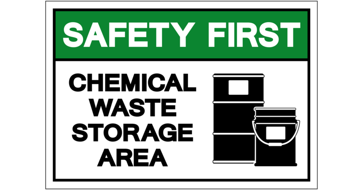 safety first hazardous material sign